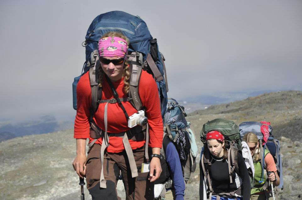 Hikers on a National Outdoor Leadership School trip