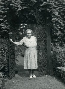 Rachel Hunt in the garden
